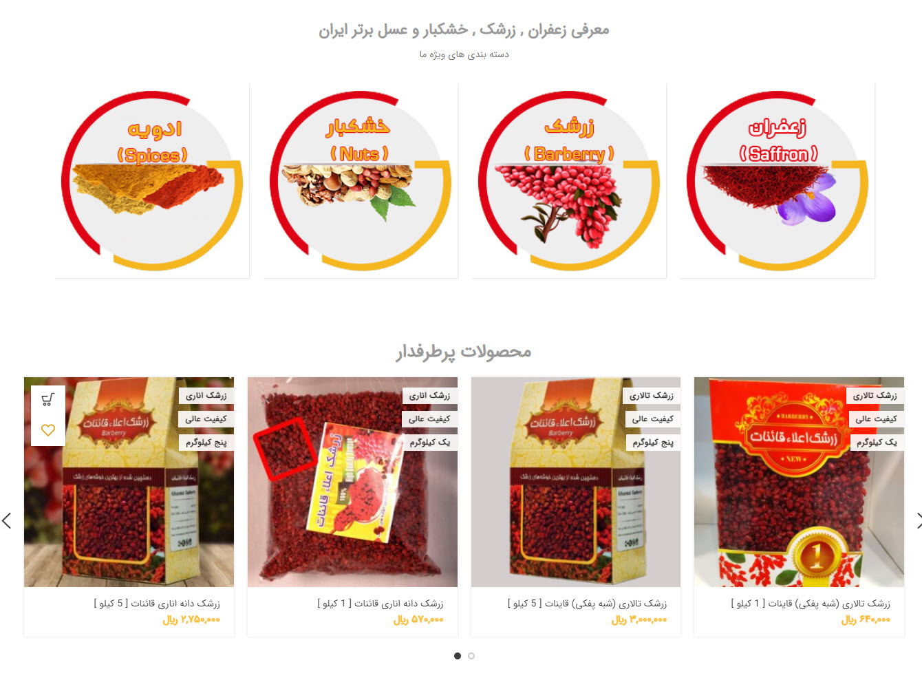 طراحی سایت   طراحی و ساخت سایت زعفران